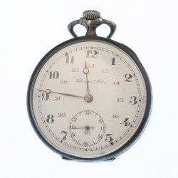 Reloj bolsillo pavonado en plata