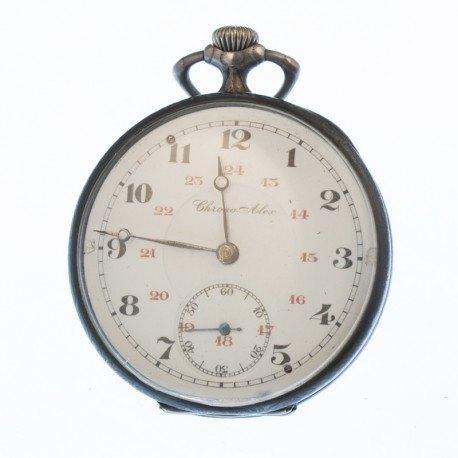 Reloj bolsillo pavonado