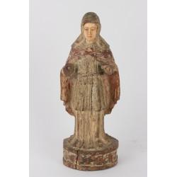 Virgen tallada en marfil