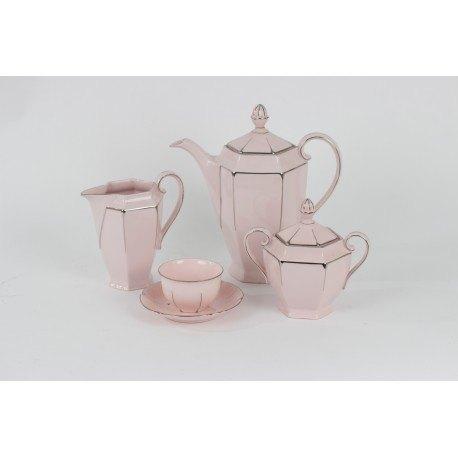 Juego de café rosa