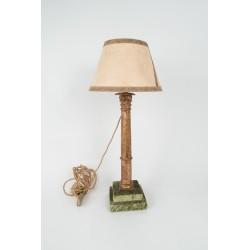 Lámpara columna S.XVIII de madera