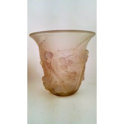 Jarrón de cristal de René Lalique (c. 1930 Francia)