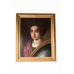Cuadro Dama con turbante. Italia S.XVII