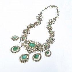 Collar esmeraldas oro
